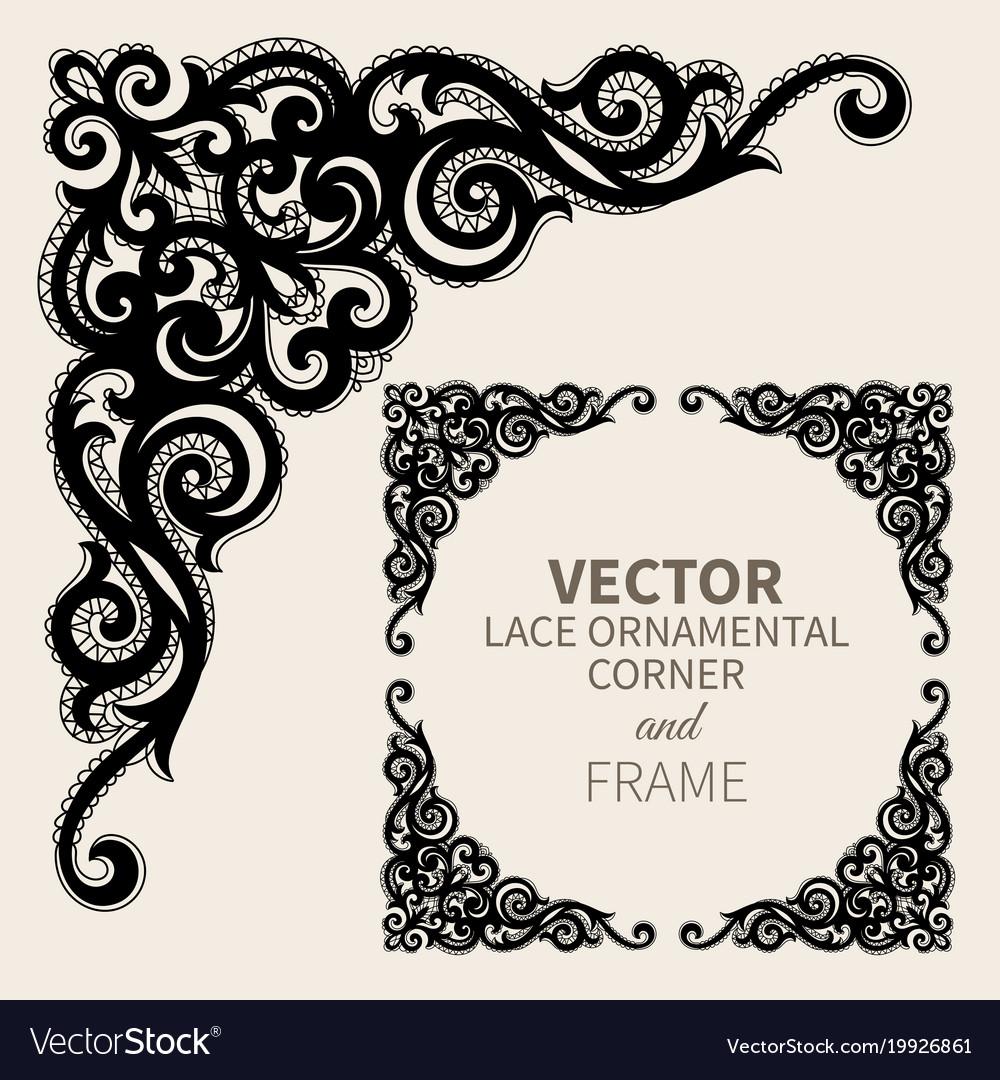Ornamental corner frame Royalty Free Vector Image