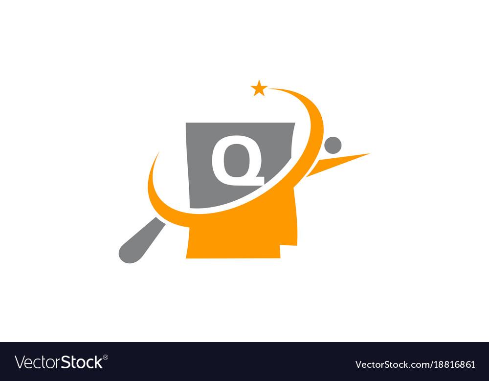 Search Job Portfolio Letter Q Royalty Free Vector Image