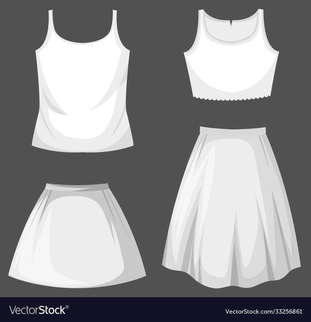 Set female outfit mock up