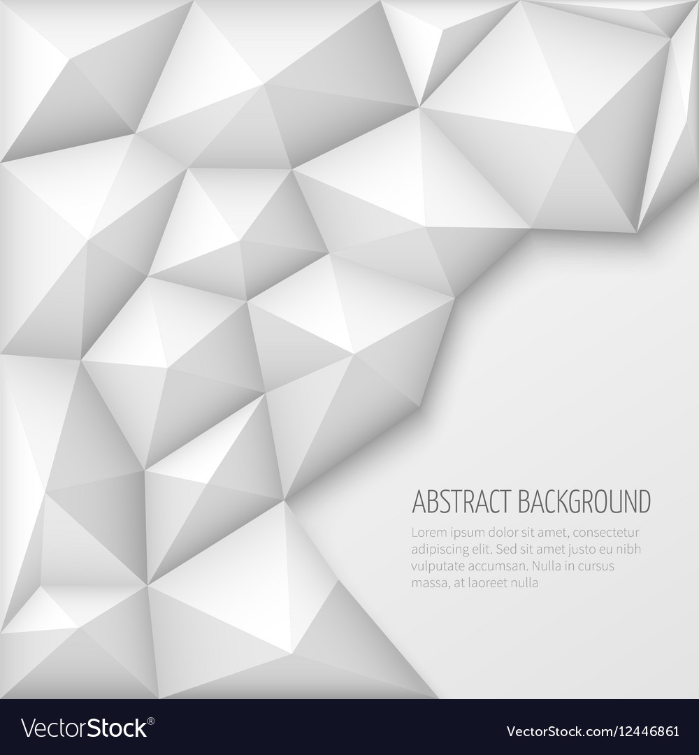 White 3d geometric abstract background with