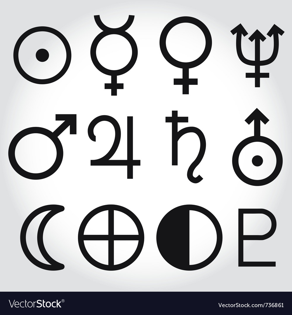 astrology symbols vector
