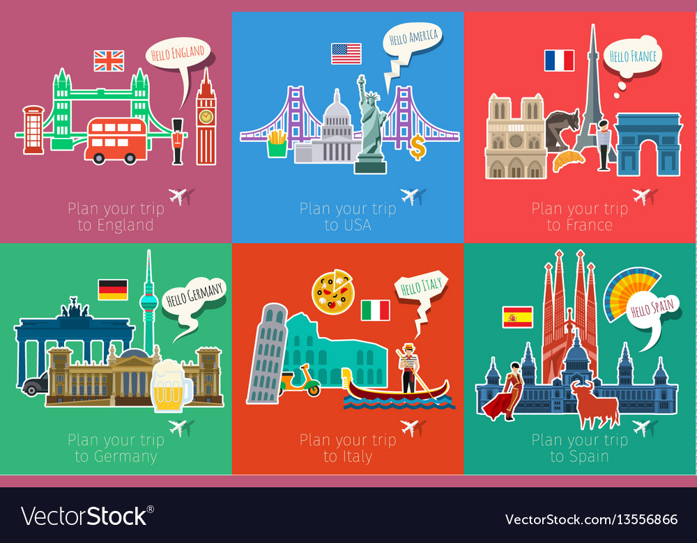 Concept of travel or studying languages