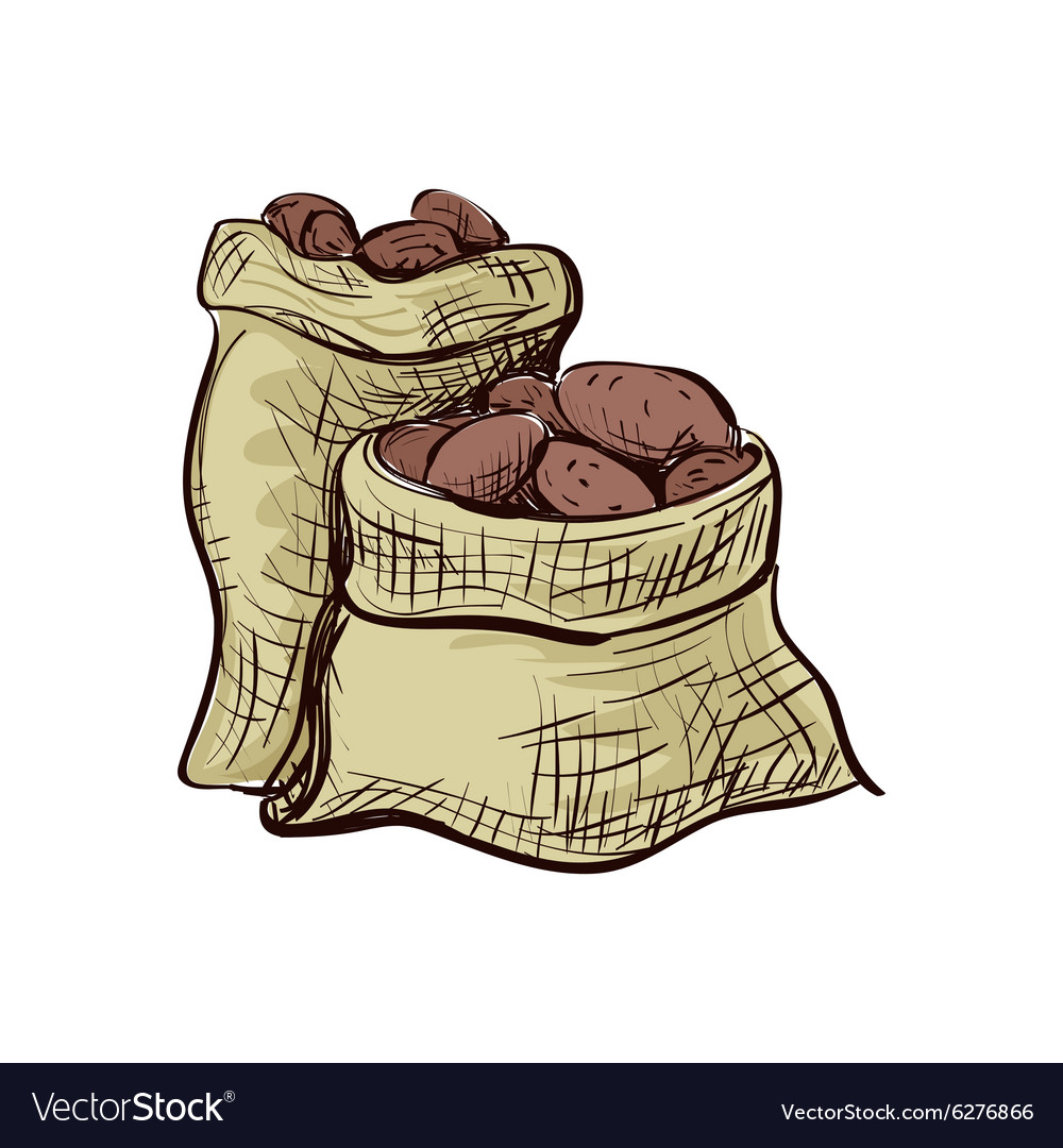 Doodle sack of potatoes