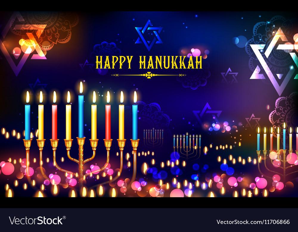 Happy Hanukkah Jewish holiday background