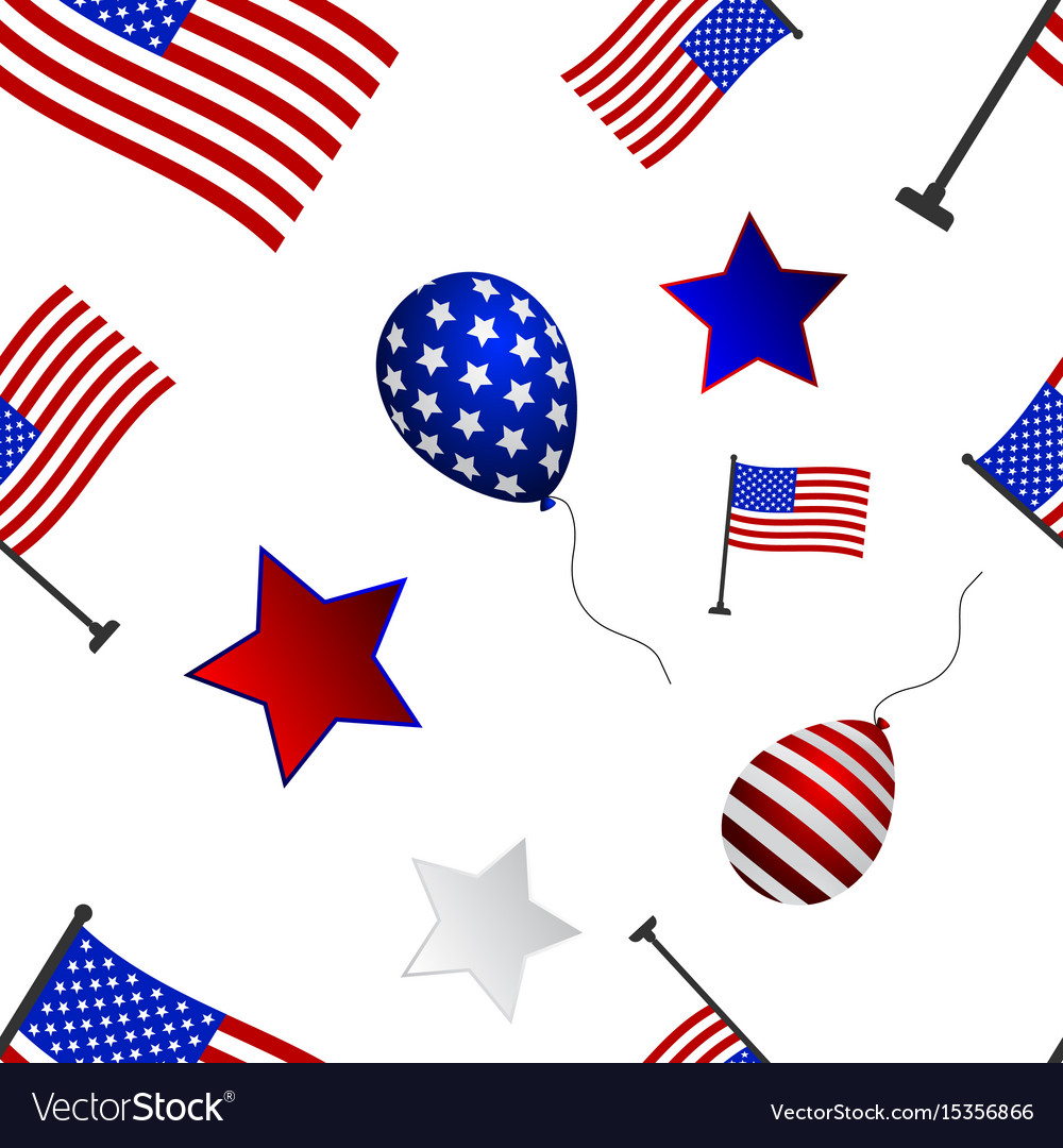 Seamless pattern to the day of independence of the