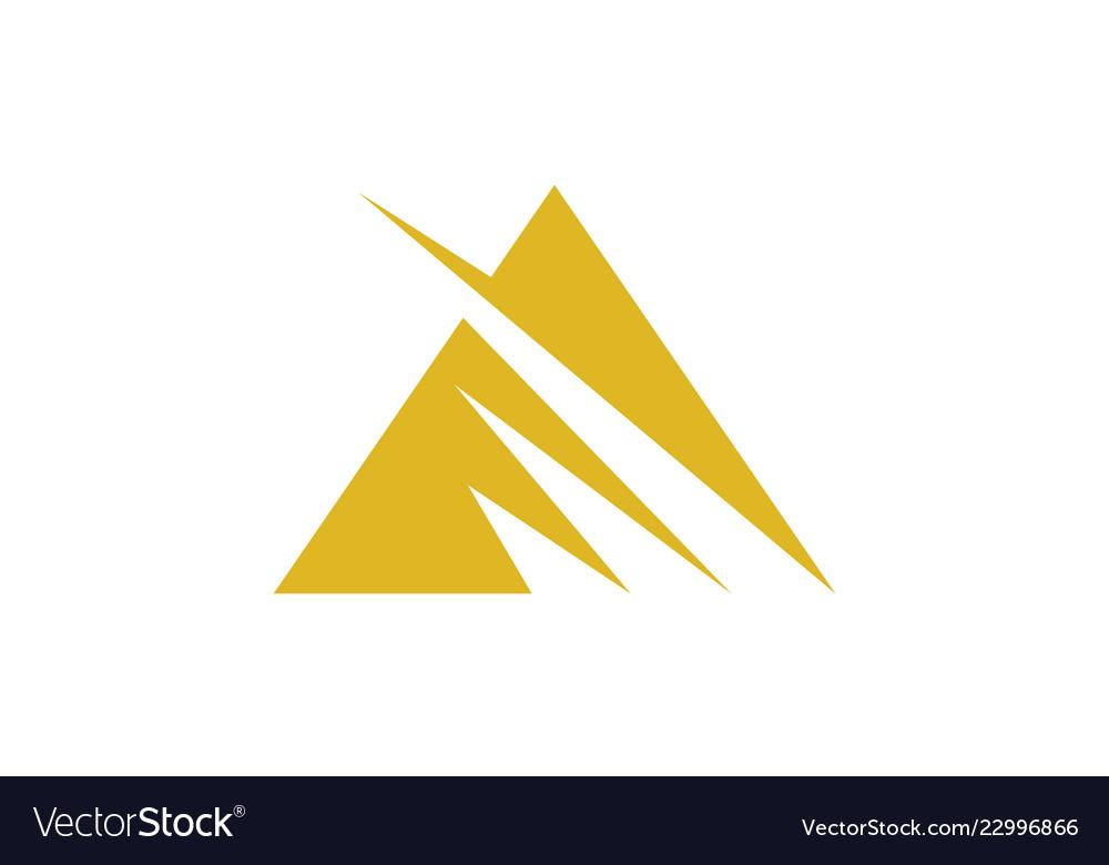 Triangle stripe logo