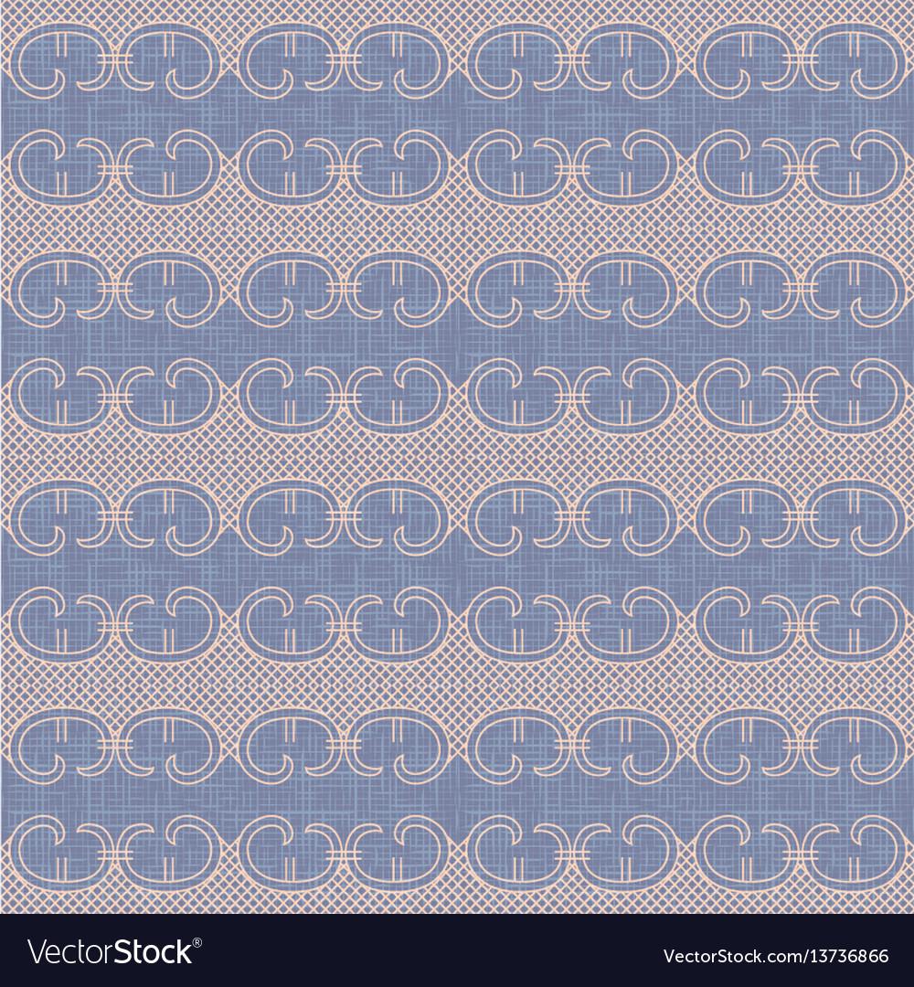 Vintage lace trim seamless pattern background