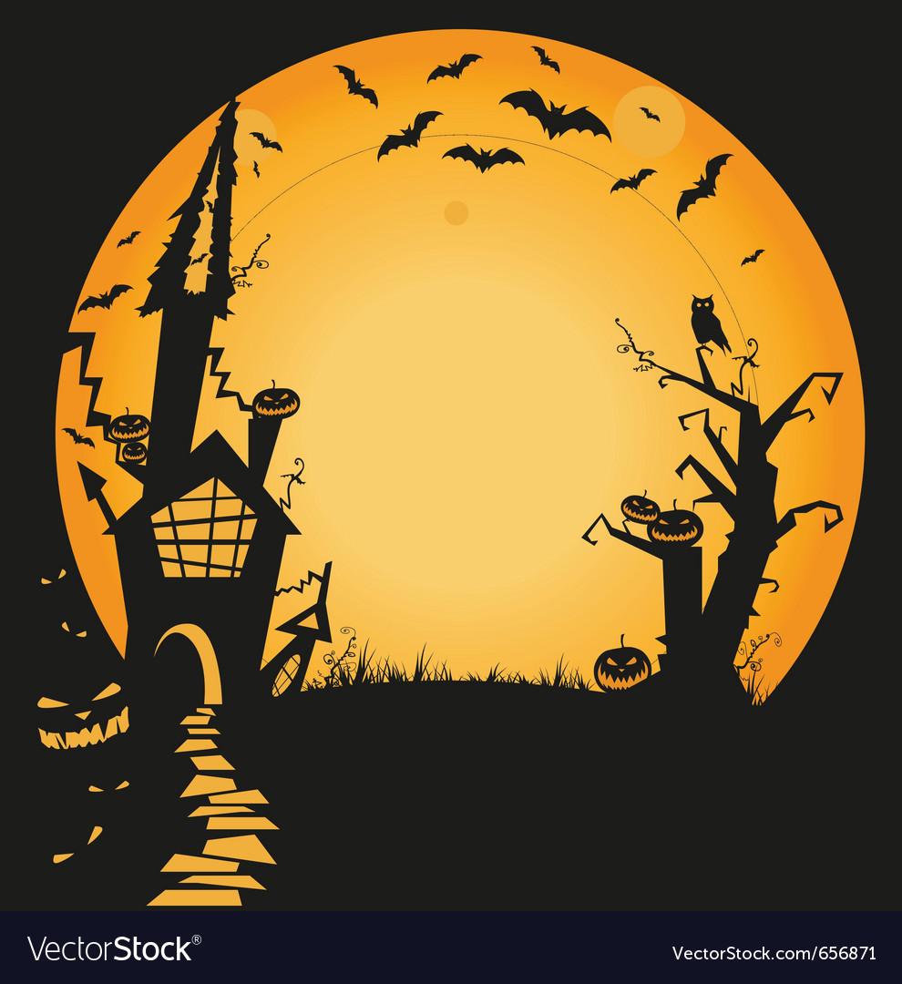 halloween haunted house royalty free vector image rh vectorstock com haunted house victoria tx haunted house vector free download