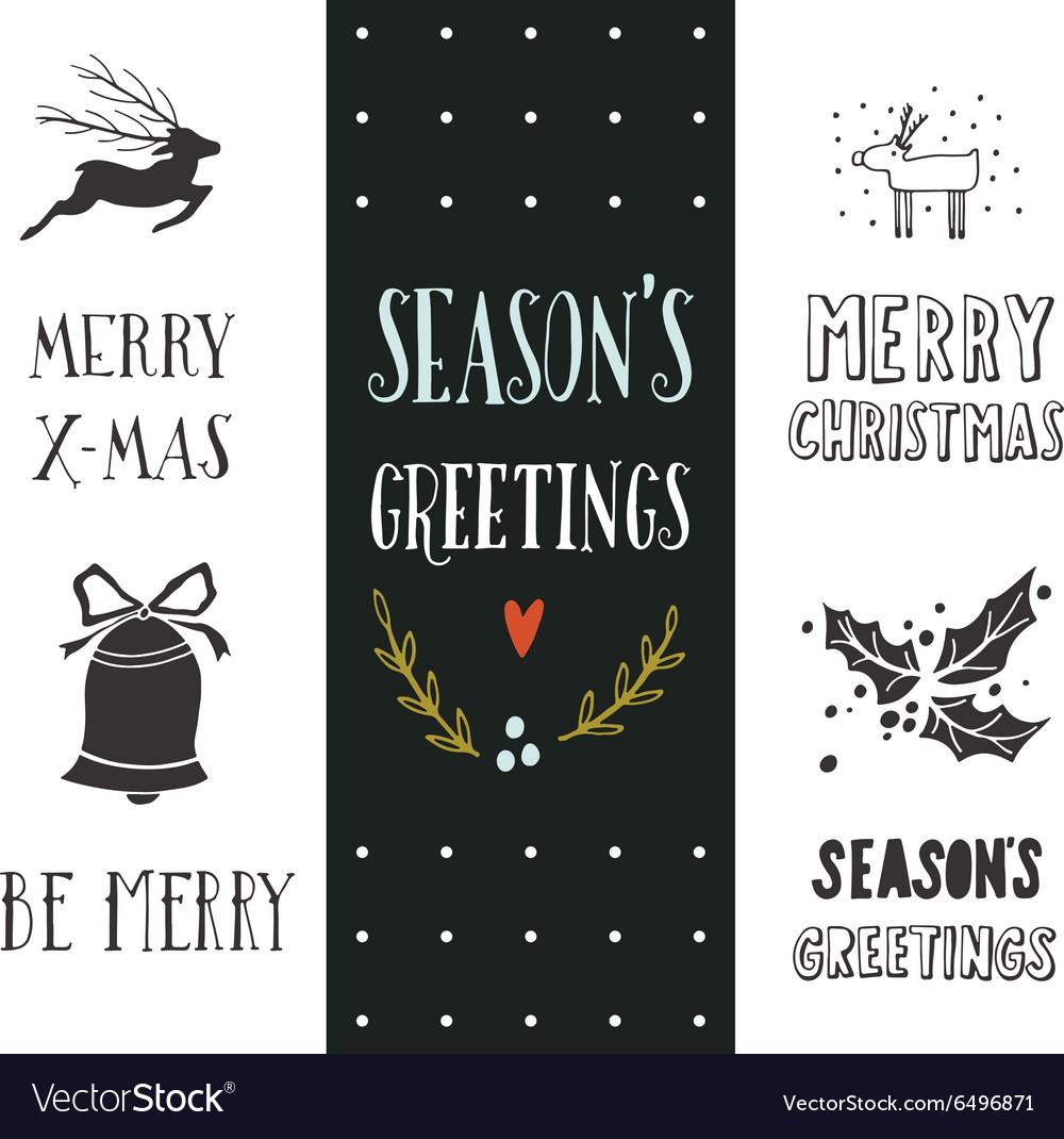 Hand drawn Christmas holiday collection