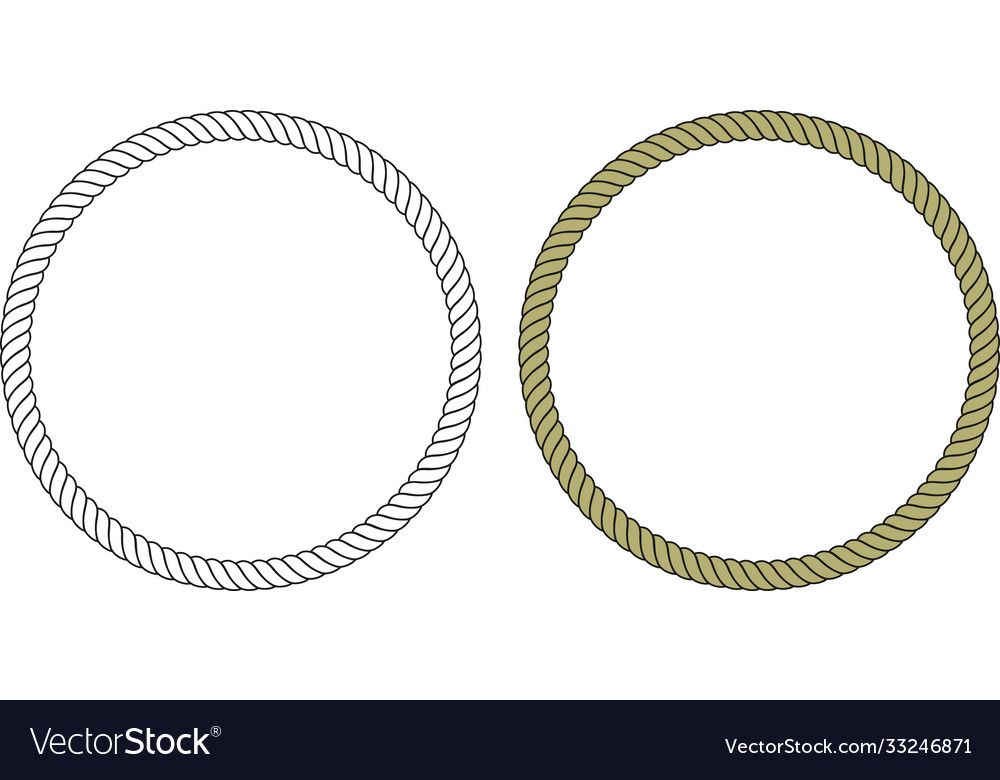 Round loop rope vector