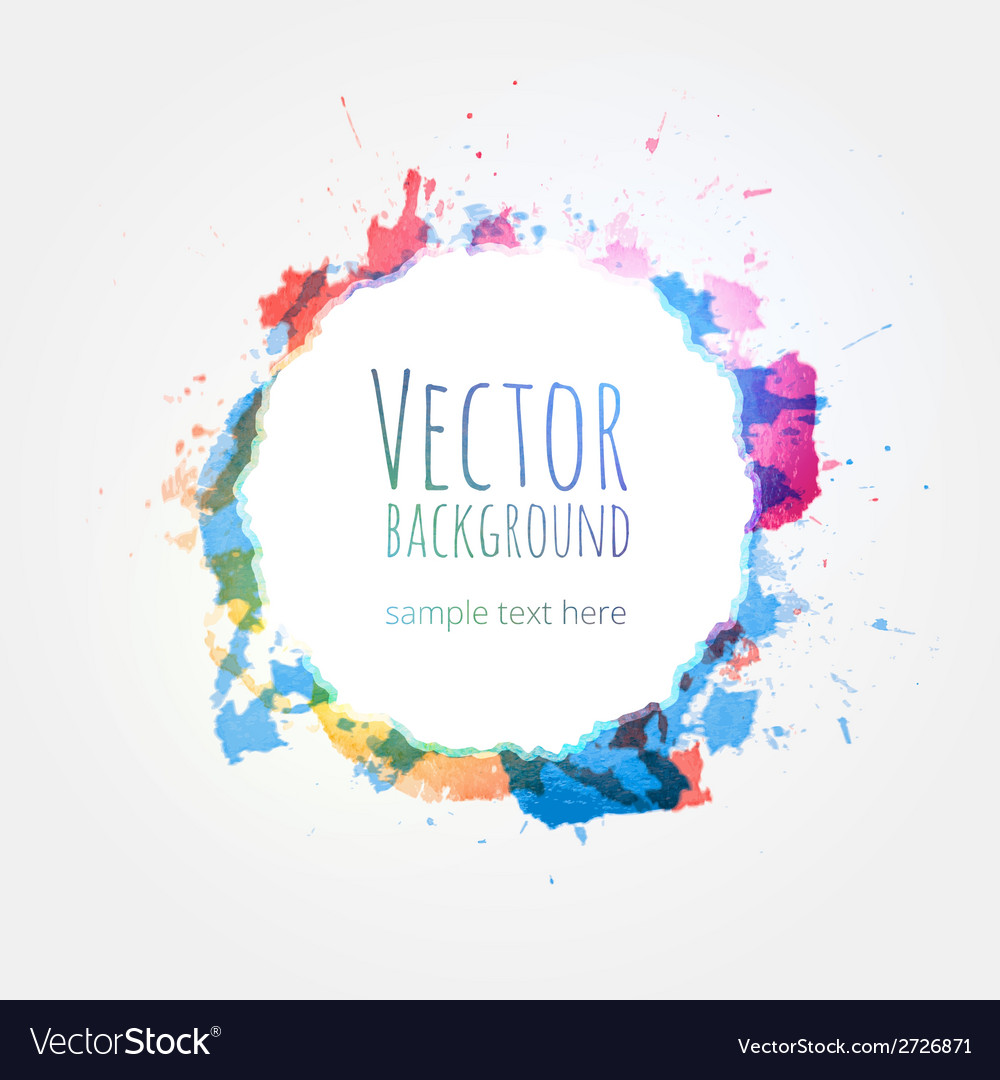 Watercolor colorful background design hand drawn