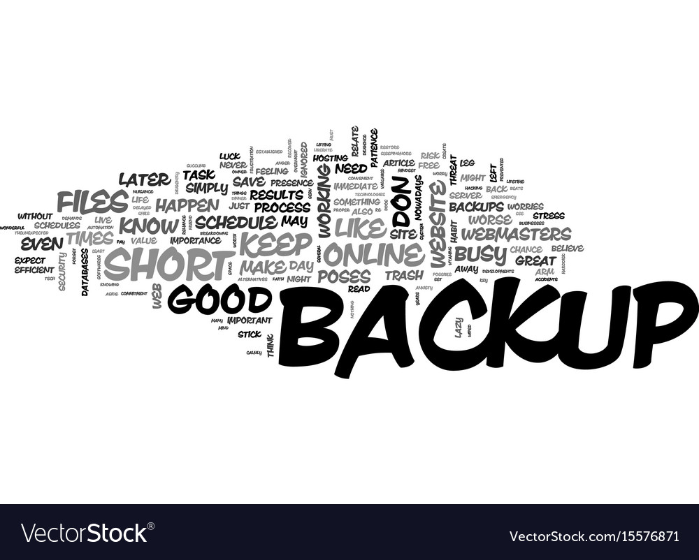 Web site backup essentials that you should live