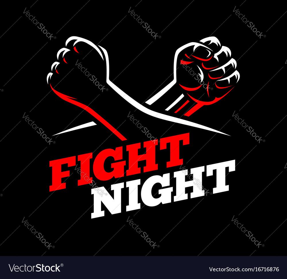 Fists fight mma kick boxing karate rebel