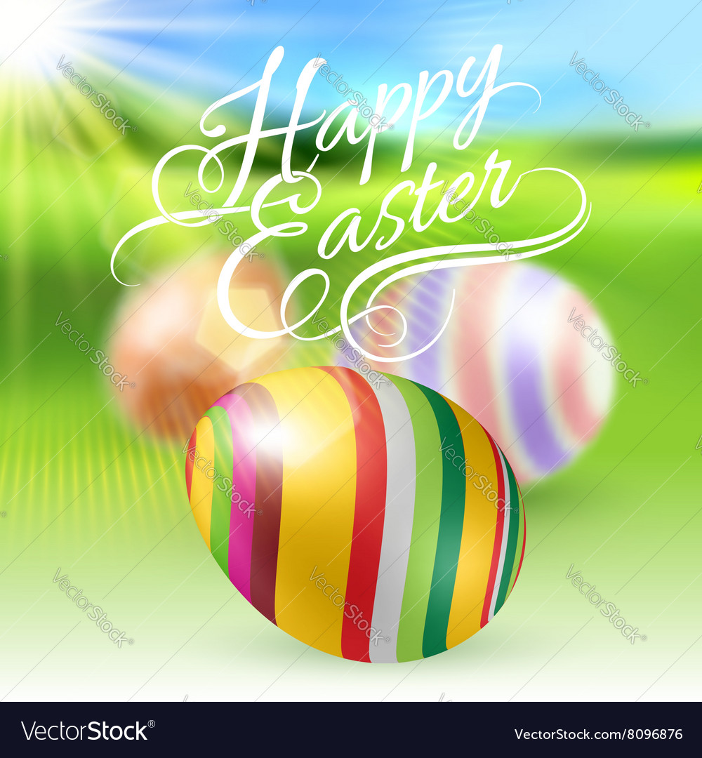 Happy easter greeting card royalty free vector image happy easter greeting card vector image m4hsunfo