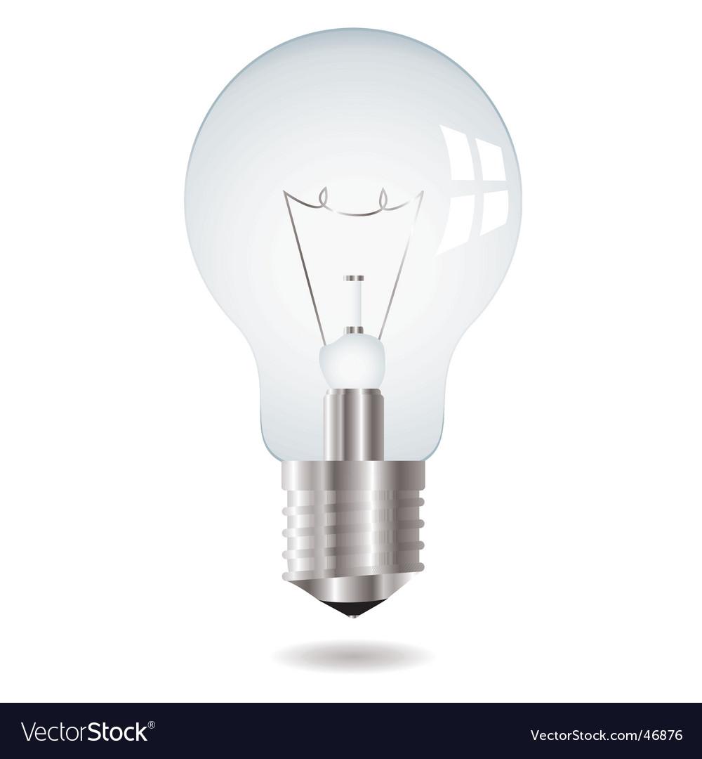 Light Bulb Royalty Free Vector Image Vectorstock
