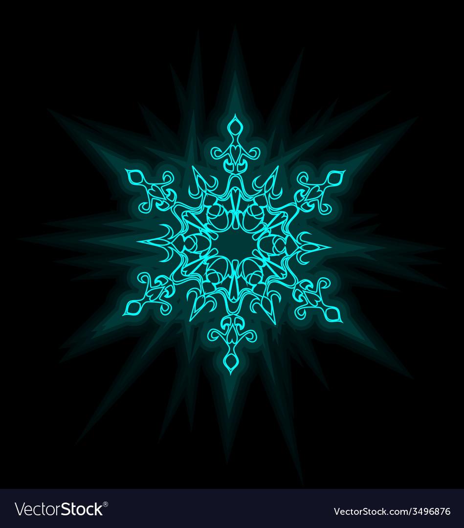 Self-illuminated snowflake