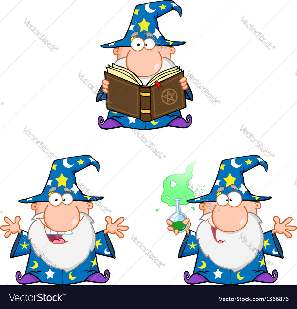 Wizard Cartoon Characters Collection