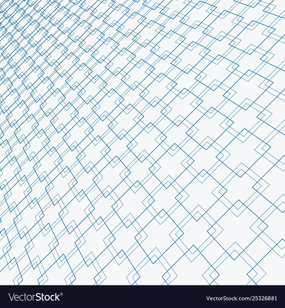 Abstract blue lines squares pattern overlapping