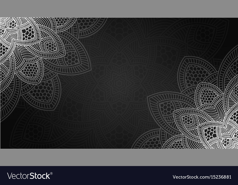 Banner with round abstract ornament circle vector image