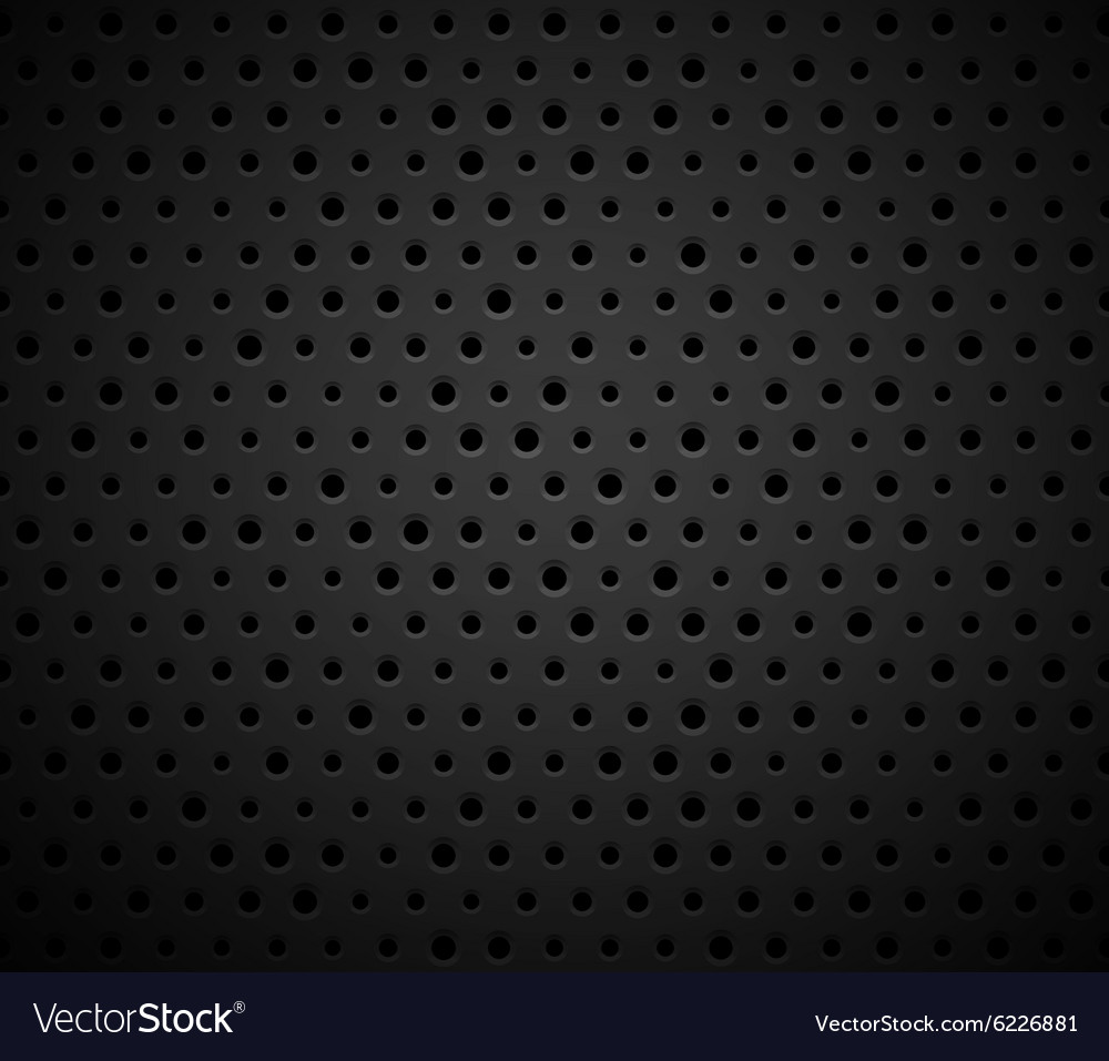 Black metal or plastic texture with holes