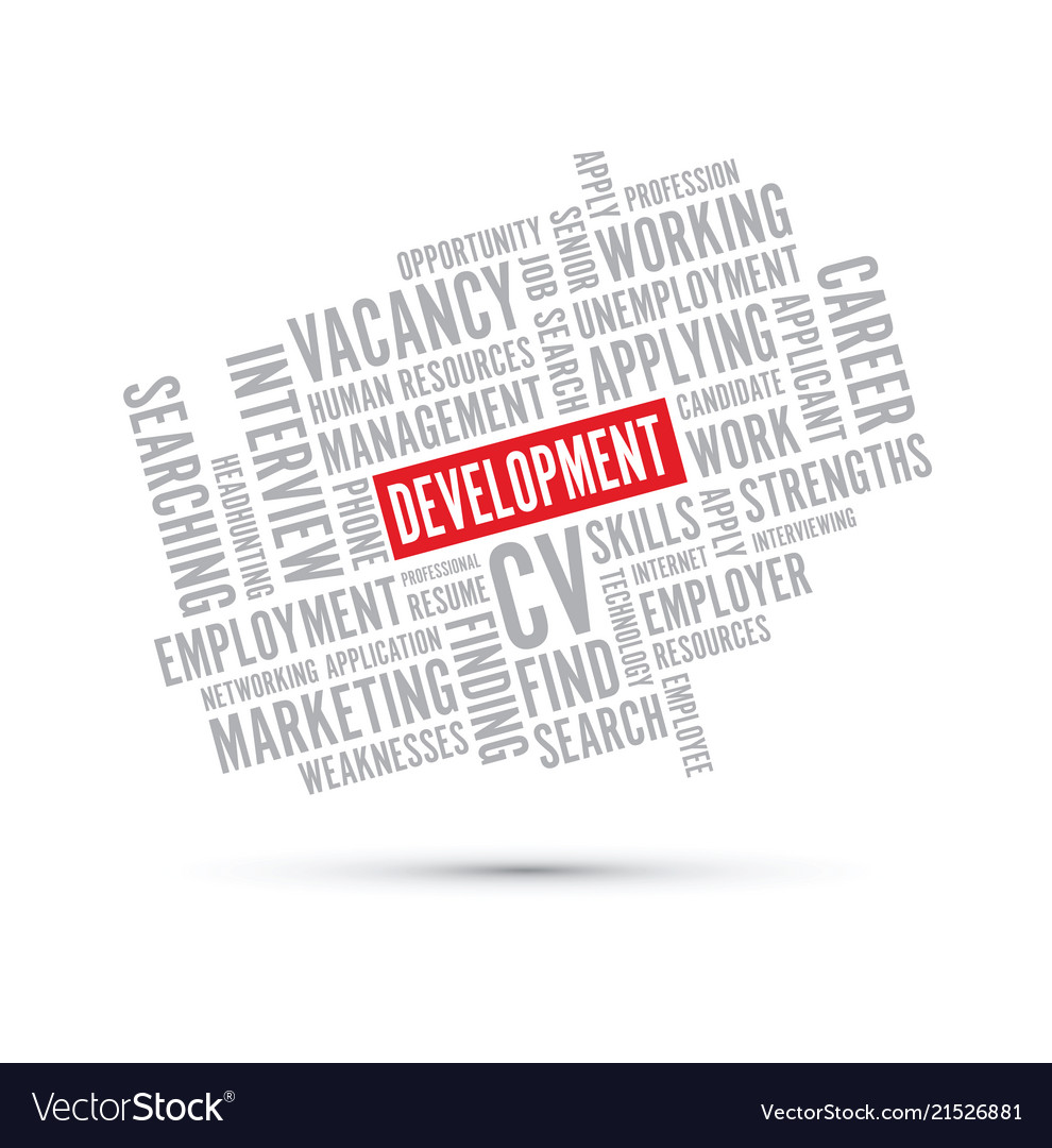 Development Word Background Royalty Free Vector Image