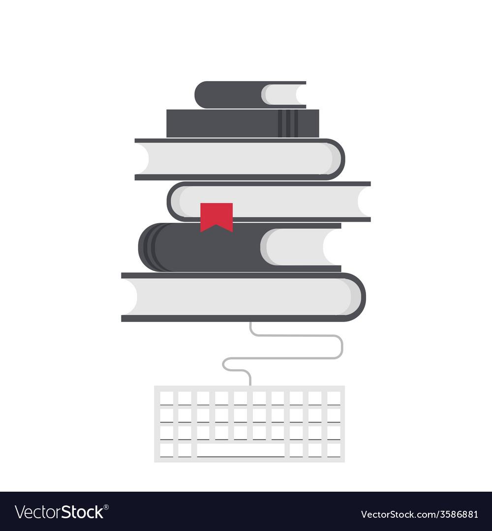 Modern flat education background
