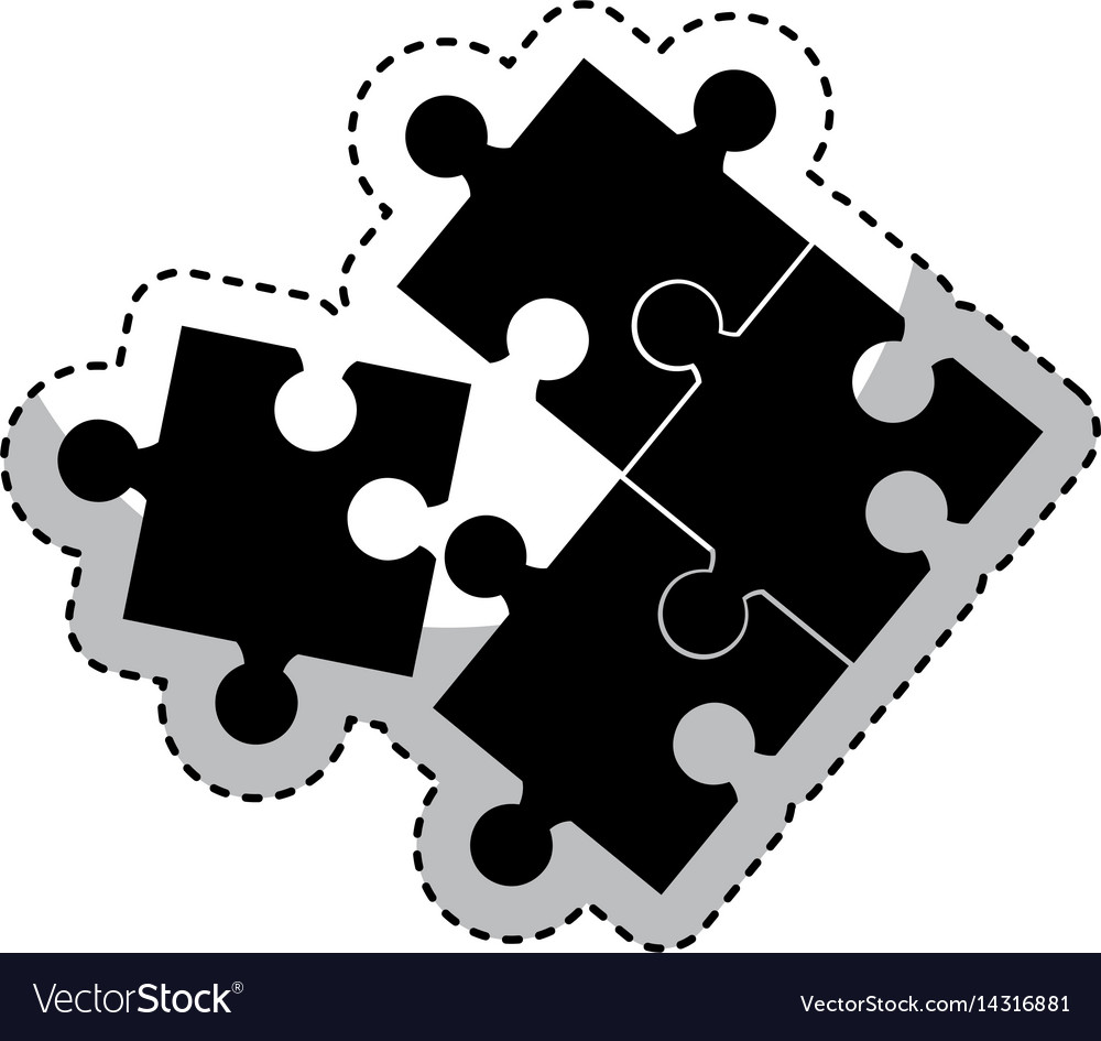 Puzzle game isolated icon