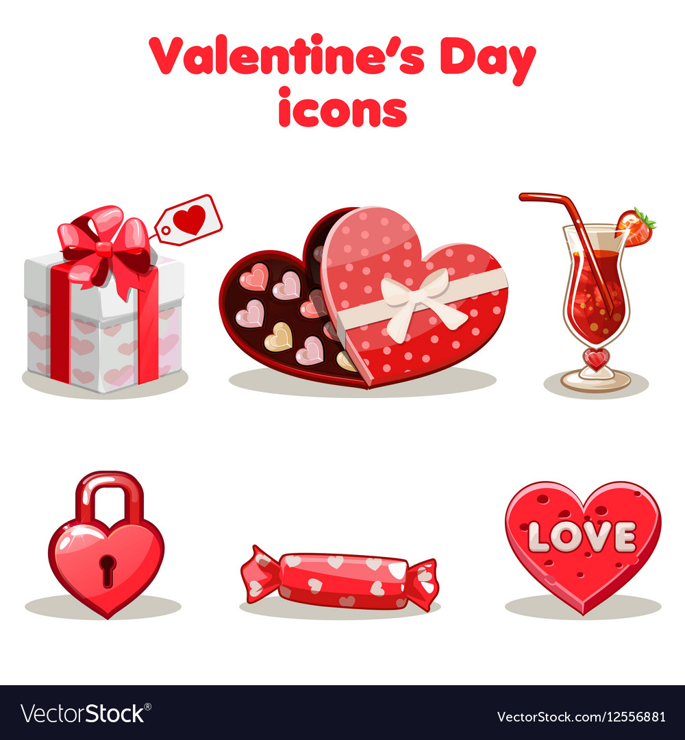 Red love collection valentine s day