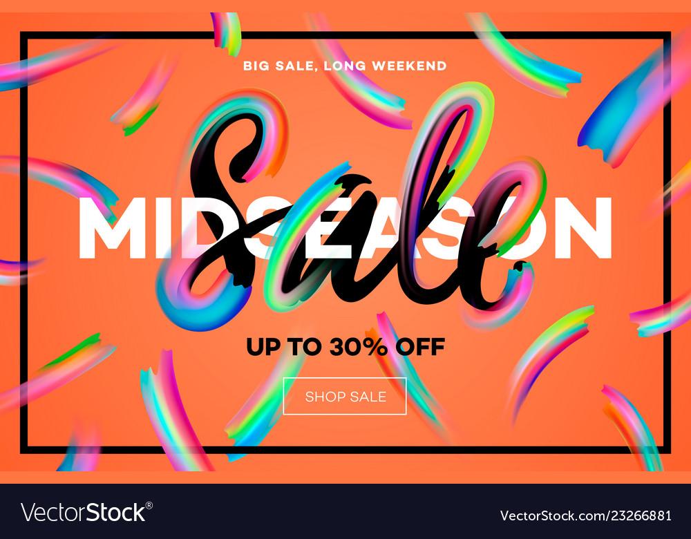 Sale banner template midseason sale orange