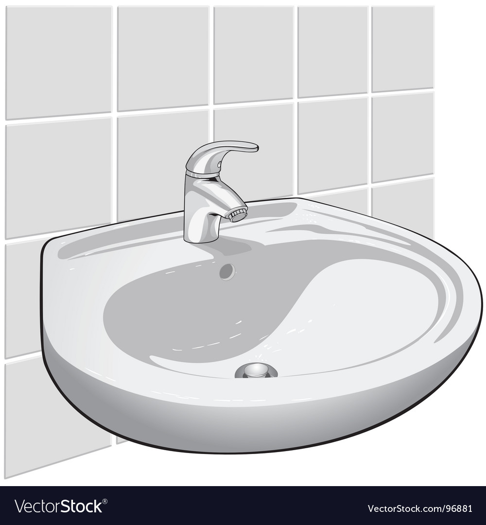 Single lever sink mixer Royalty Free Vector Image