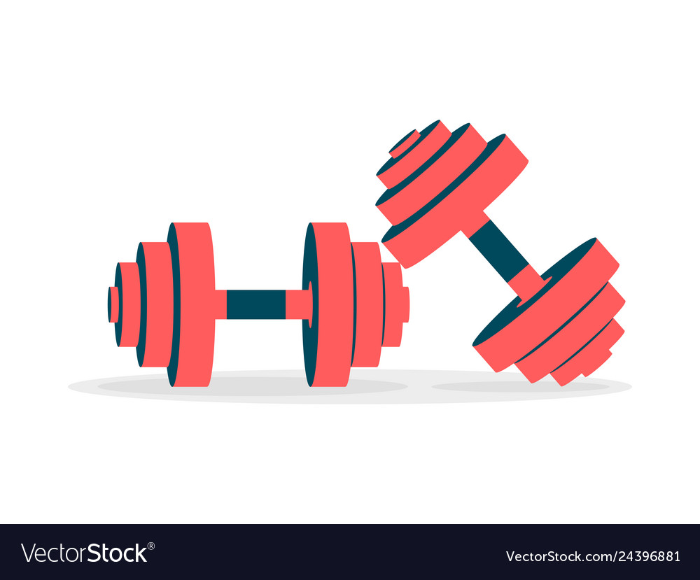 Two dumbbell icons on a white background
