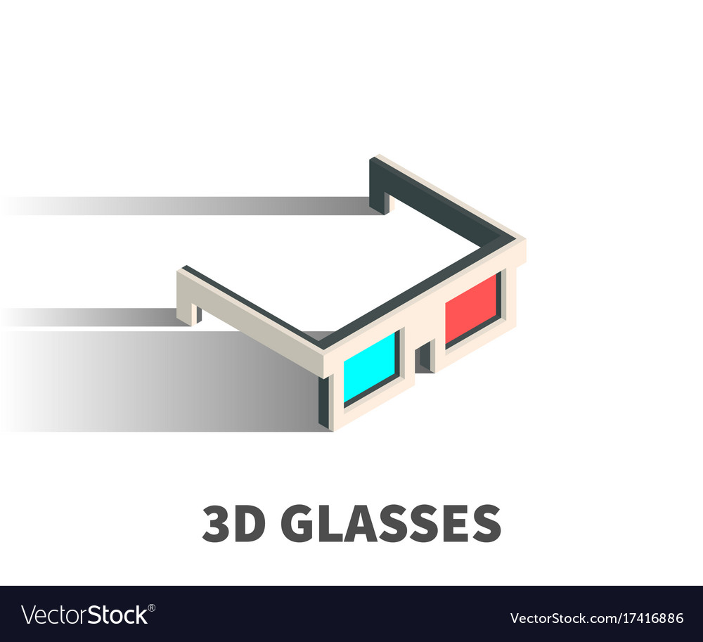 3d glasses icon symbol