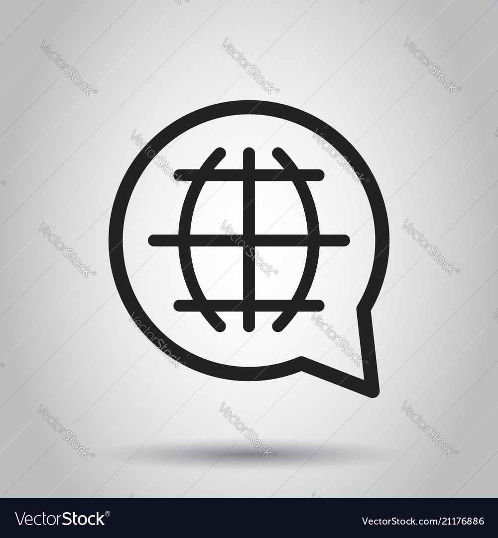 Choose or change language icon business concept