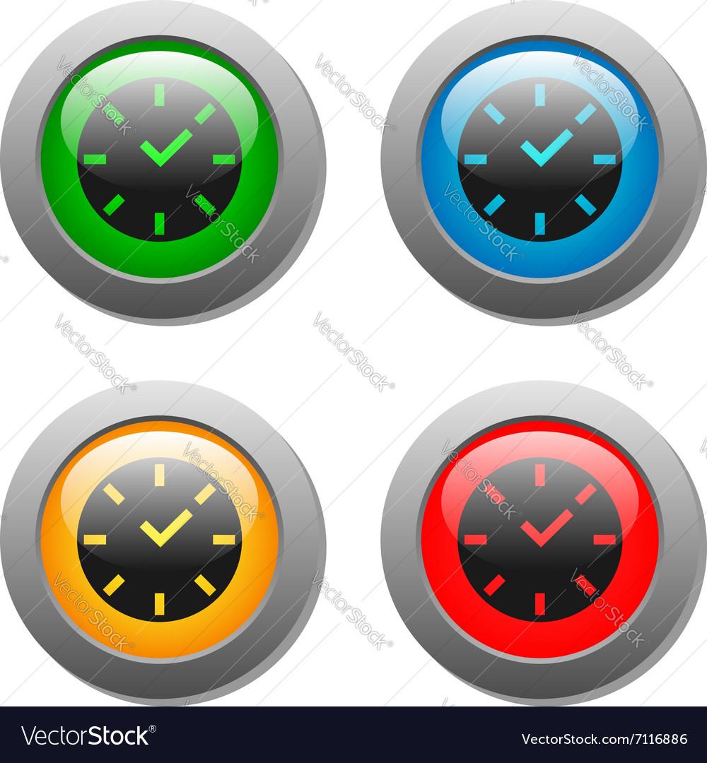 Clock icon on square button