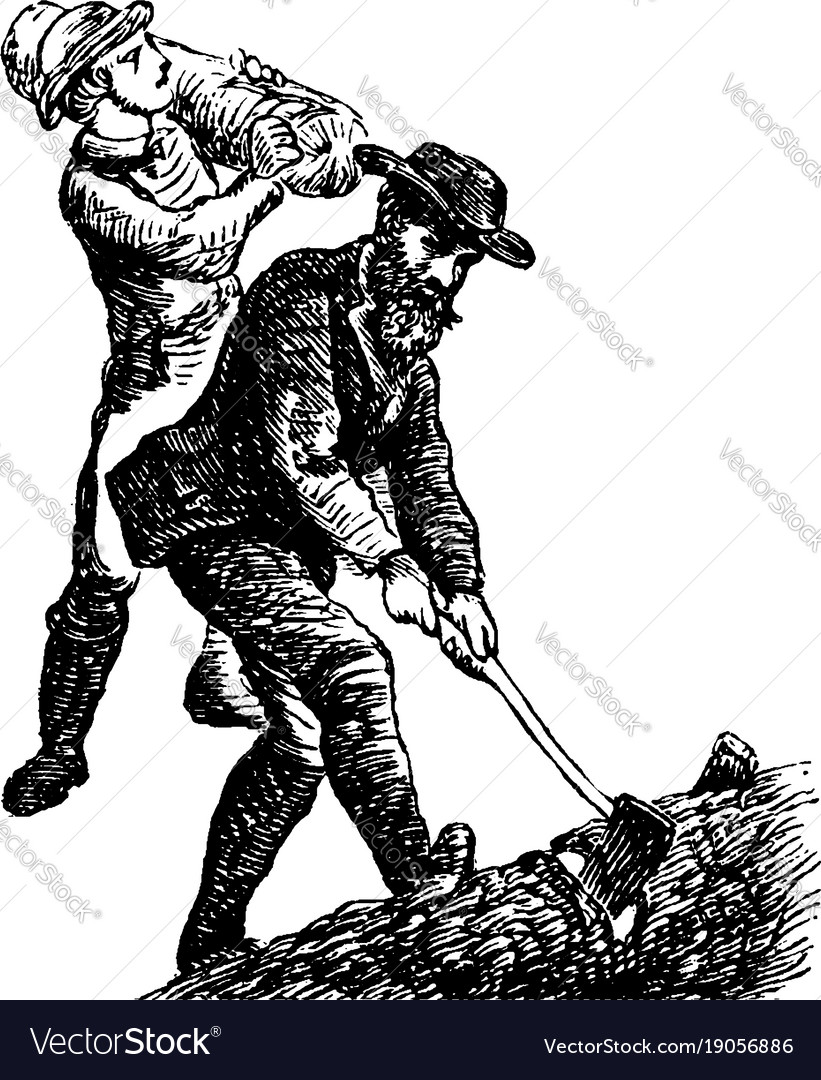 Lumberjacks vintage vector image