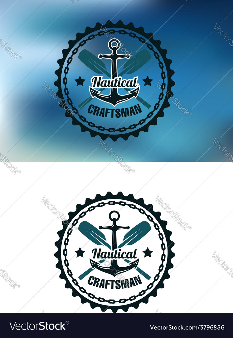 Nautical craftsman badge or emblem
