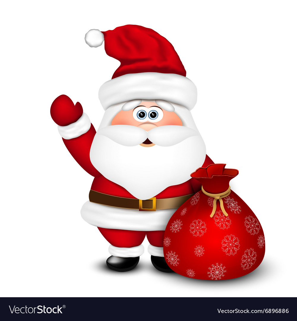 Santa Claus with bag vector image
