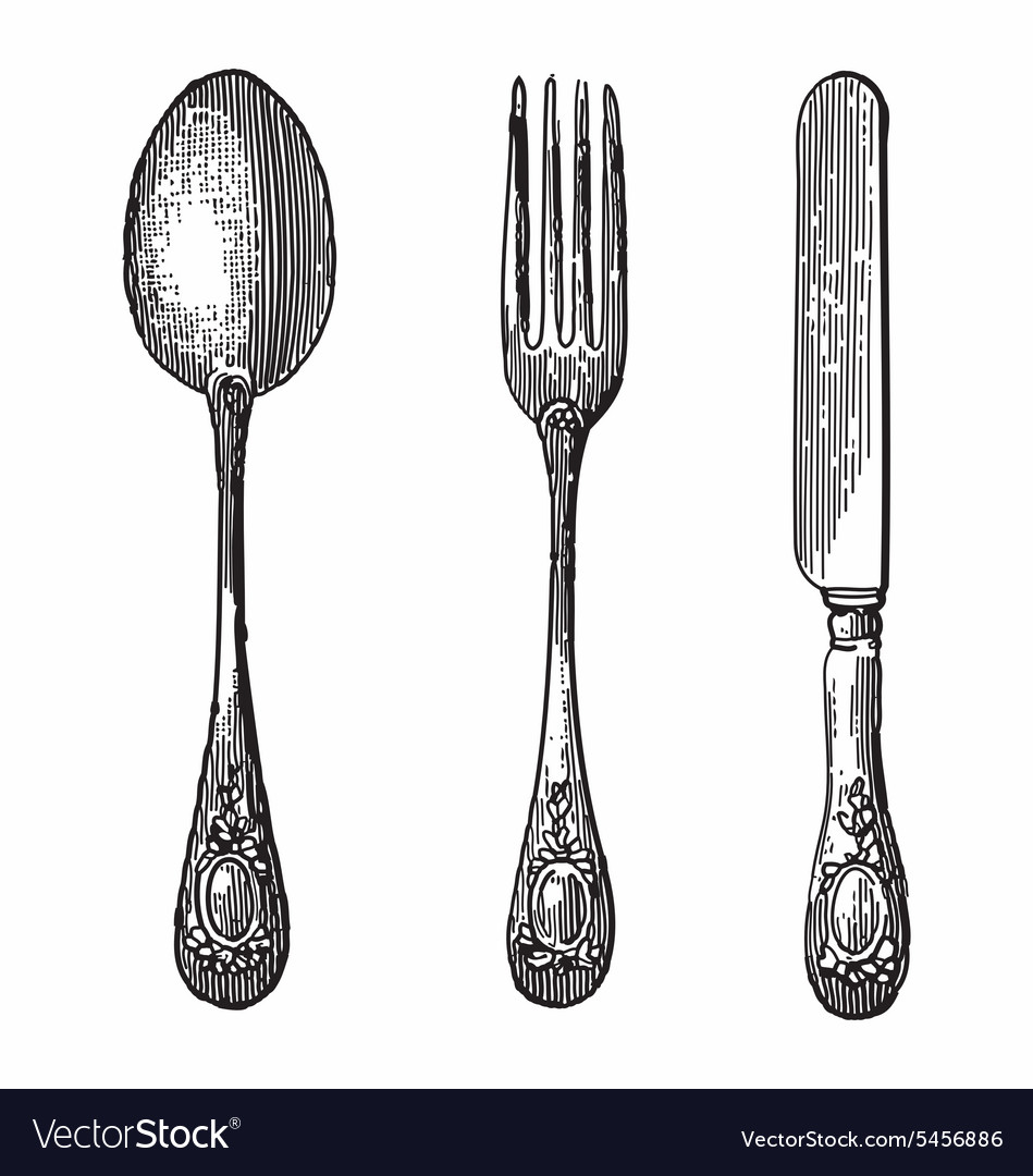 Spoon knife and fork