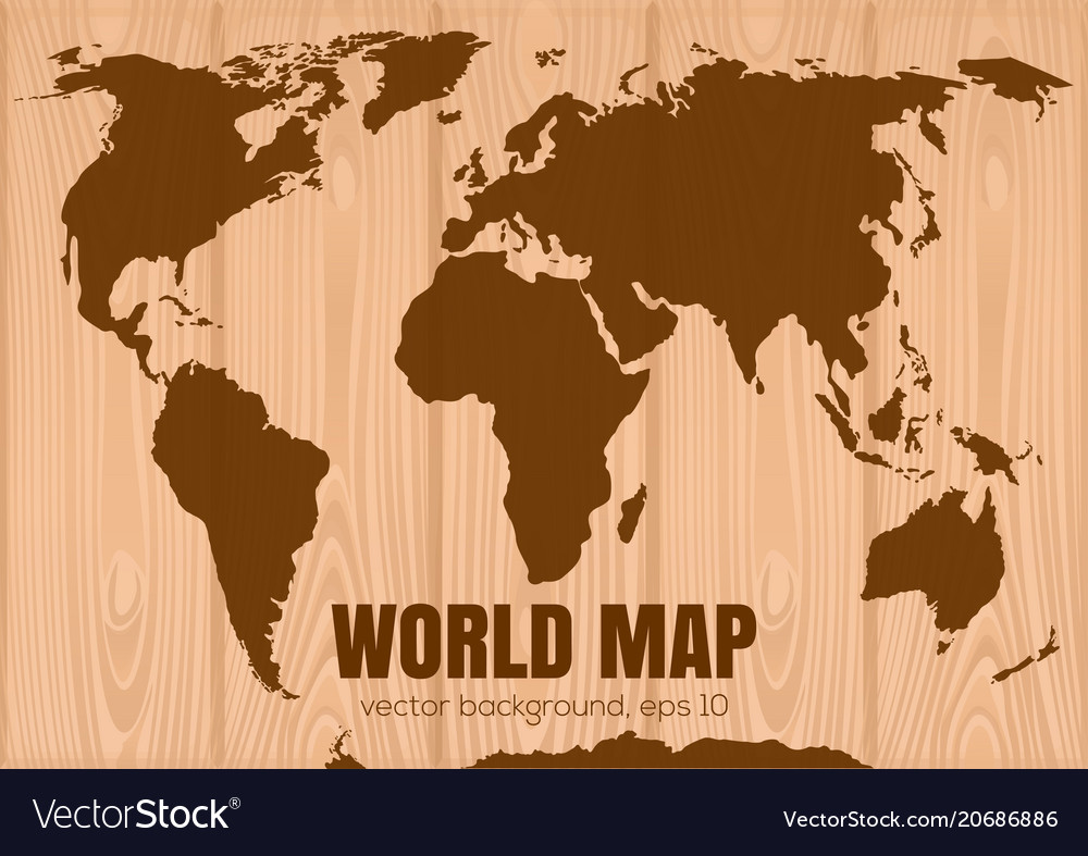 World map on wooden background royalty free vector image world map on wooden background vector image gumiabroncs Choice Image