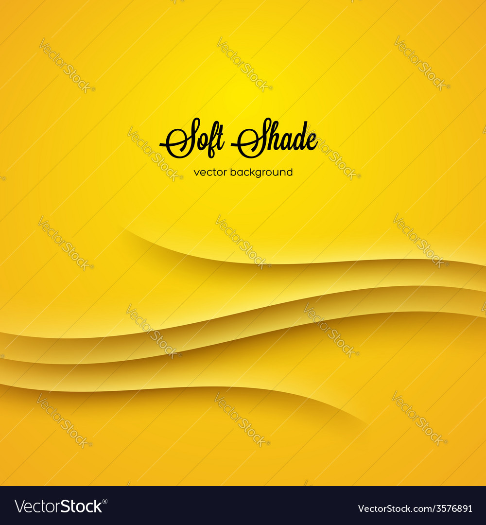 Abstract background with yellow shadow ornament
