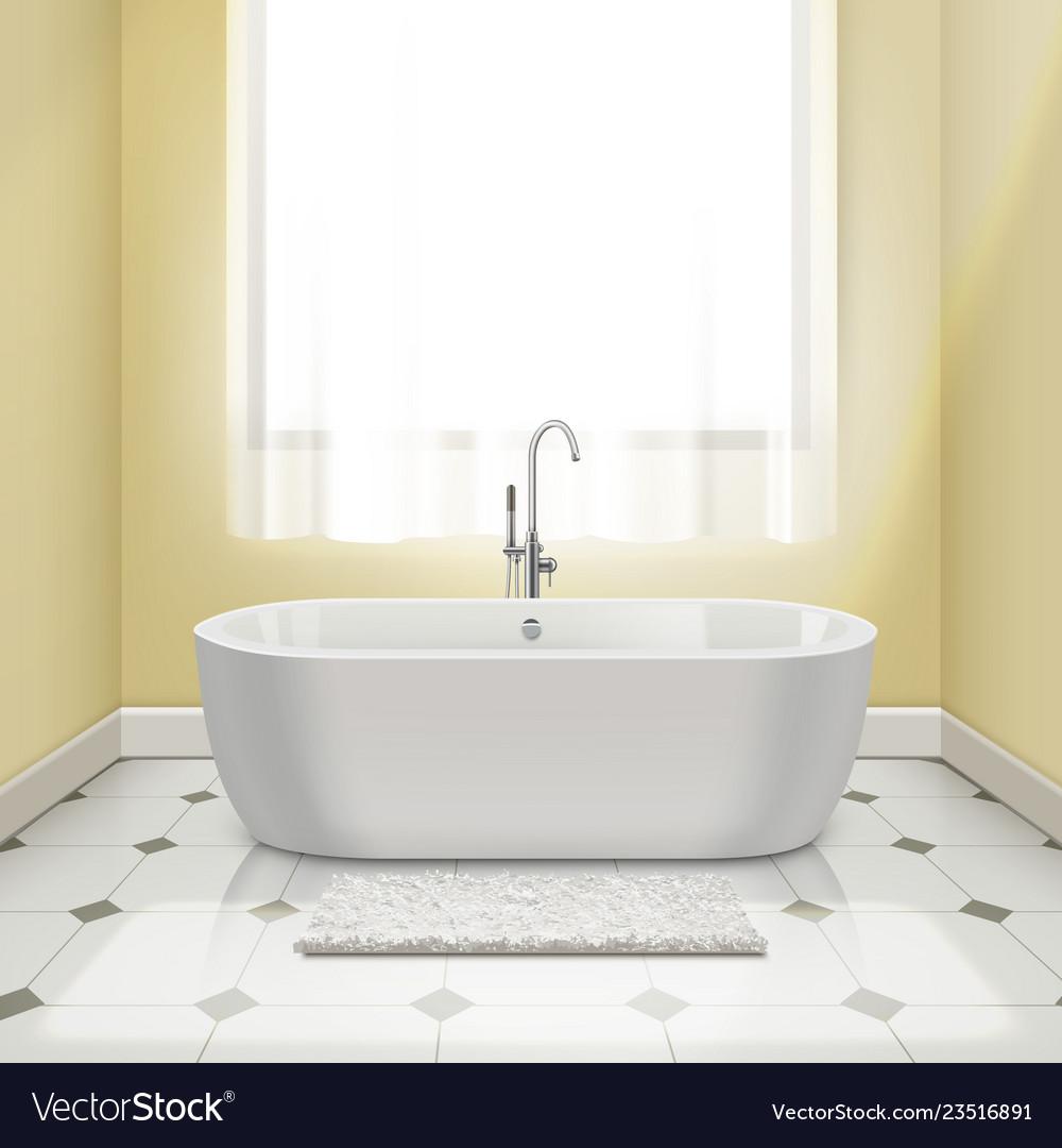 Bathtub in interior