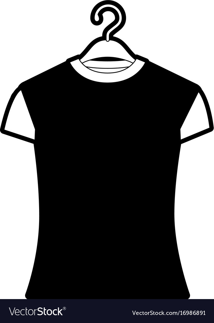 Black sections silhouette of woman t-shirt in