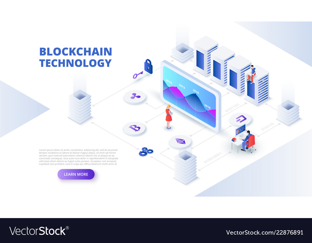 Blockchain and cryptocurrency design concept