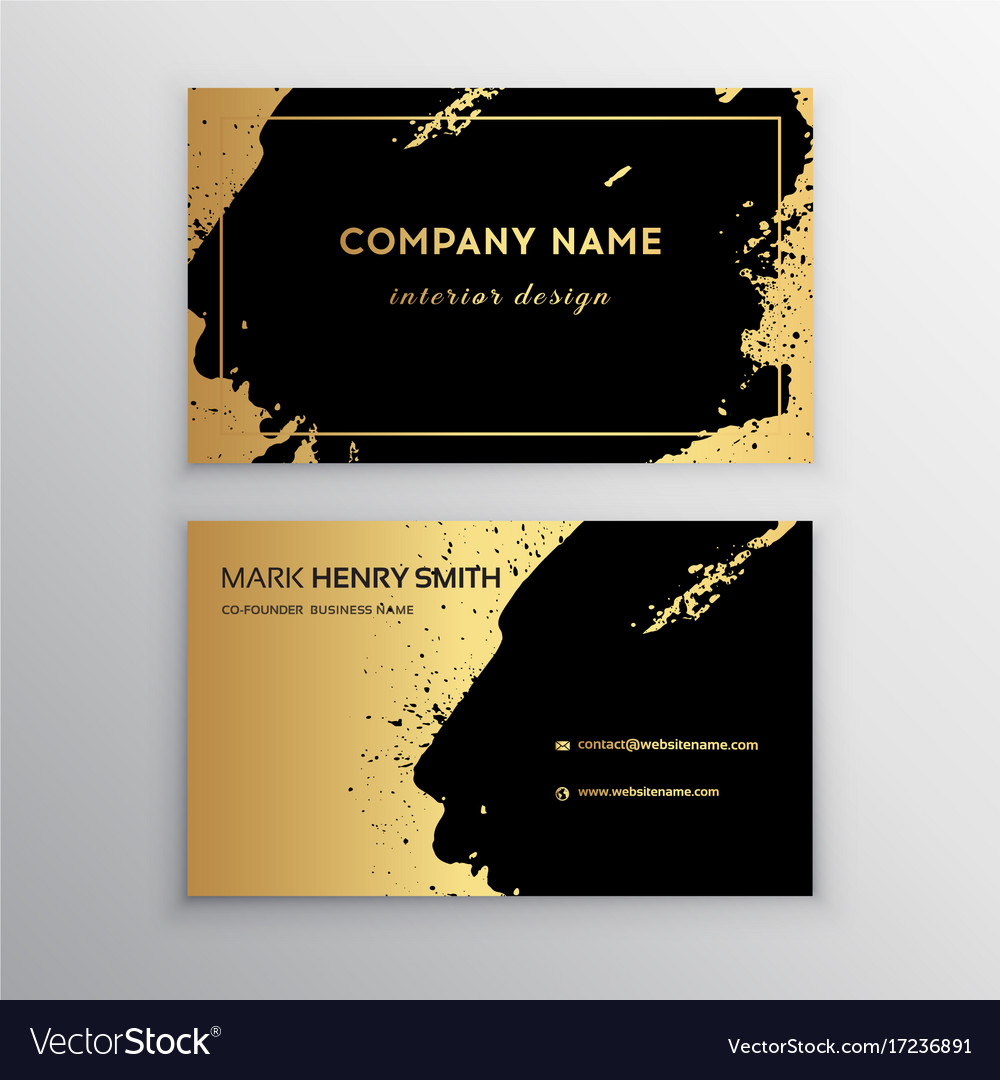 Business card luxury business card design vector image reheart Image collections