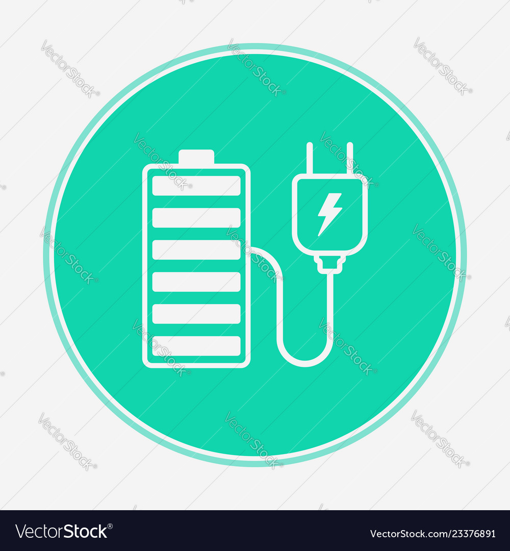 Charging battery icon sign symbol