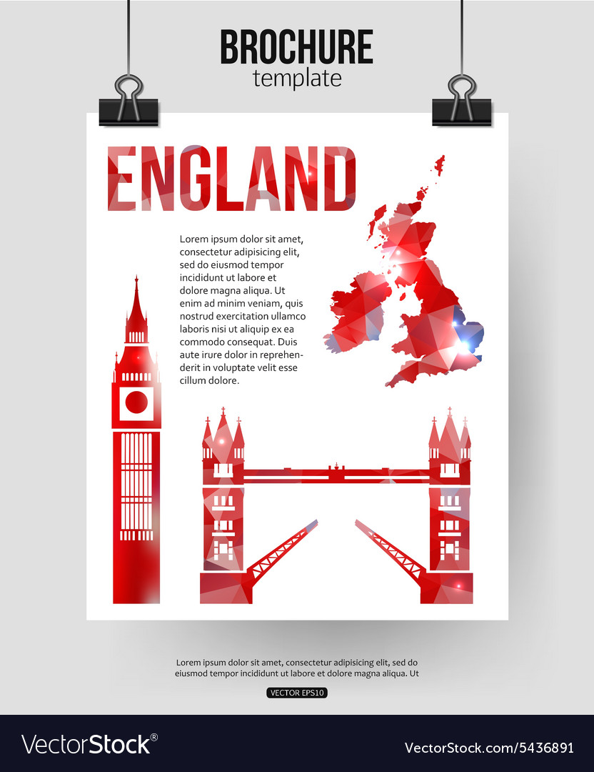 England travel background Brochure with Great