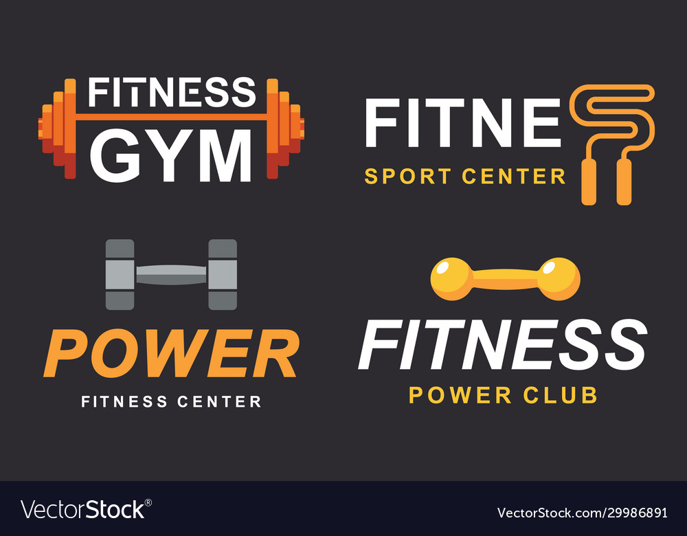Fitness gym logo signs collection