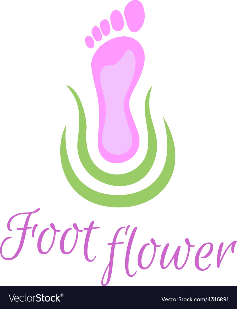 Foot care logo vector image
