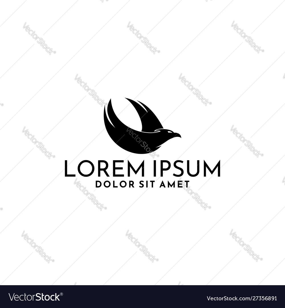 Phoenix logo template icon isolated on white