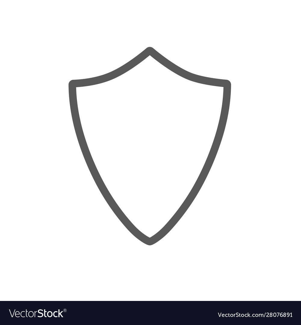 Security assurance icon guard shield plain line
